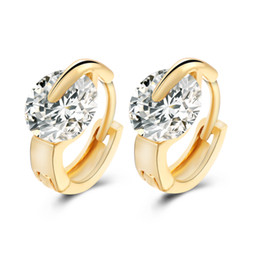 683a53bc8 New Arrivals 18K Gold Plated Big Cubic Zirconia CZ Mini Small 1cm Huggie Hoop  Earrings for Women Girls