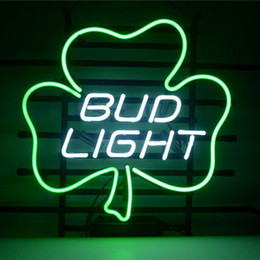Wholesale Shamrock Light Sign - Shamrock-shaped DIY LED Neon Sign Glass Flex Rope Light Indoor Outdoor Decoration for Bud Light RGB Voltage 110V-240V