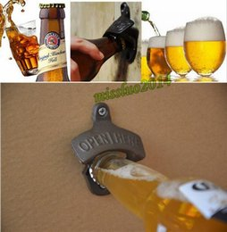 Wholesale Wholesale Bottle Opener Mount - Wall-mounted Opener Beer Bottle Opener Cast Iron Bronze Retro Opener Kitchen Bar Tools 50pcs DHL FEDEX UPS SF TNT fast shiipping
