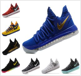 Wholesale Kids Basketball Shoes Sale - Kids KD 10 Basketball shoes Hot Sale FMVP Signature Shoes Classic 9 Style Kevin Durant Sneaker Free Shipping&With Box