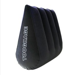 Wholesale Sex Triangle - TOUGHAGE Sex Pillow Inflatable Sex Furniture Triangle Magic Wedge Pillow Cushion Erotic Products Adult Game Sex Toys for Couples