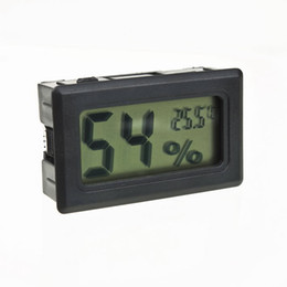 Wholesale Lcd Digital Thermometers - Wholesale-Mini Digital LCD Indoor Convenient Temperature Humidity Meter Thermometer Hygrometer Gauge