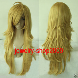 Wholesale Light Blonde Curly Wig Cosplay - Free Shipping New prom High Quality Fashion Picture full lace wigs>>New wig Cosplay Panty and Stocking Light Golden wig
