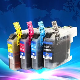 Wholesale Inks For Brother Printers - European Printer Model Ink cartridge,full set LC223 BK C M Y for MFC-J5625DW,MFC-J5720DW etc.,free shipping