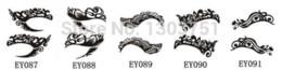 Wholesale Tattoo Liner Diy - 5pcs Stylish Eye Art Tattoos Temporary Eyeliner Stickers For Female DIY Makeup Tools Eye Decorations Eye Liner Fake Tattoos