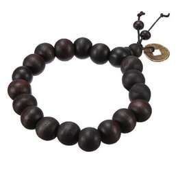 Wholesale Beads Ornament - Wood Beaded Bracelets Buddha Buddhist Prayer Beads Tibet Bracelet Mala Bangle Wrist Ornament CAD