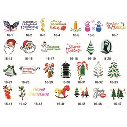 Wholesale Self Adhesive A4 - 100 Christmas Designs Self-Adhesive Body Art Temporary Tattoo Airbrush Stencils Template Booklet 16 of Butterfly and Animals