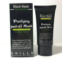 Wholesale Oil Face Cleansing - 2017 Black Suction Mask Anti-Aging 50ml SHILLS Deep Cleansing Purifying Peel Off Black Face Mask Remove Blackhead Peel Masks