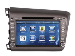 """Wholesale Dvd Player For Honda - 8"""" 2-Din Car DVD Player GPS Navigation for Honda Civic 2012 2013 with Radio Bluetooth USB AUX MP3 Audio Stereo"""