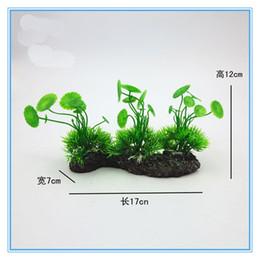 Wholesale Aquarium Plant Wholesalers - New Hot Sale 20PCS Aquarium Landscaping Artificial Plants Grass Leaf Plant Rockery Bonsai Accessories Free Shipping
