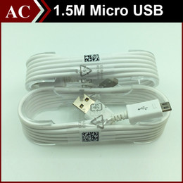 Wholesale Blackberry Data Transfer - 5ft 1.5M Extended Micro USB Data Cable V8 Charging Transfer Power Charger Charge Line For Android Phone Samsung S6 S7 Edge HTC LG High Speed