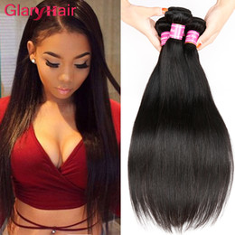 Wholesale 22 Inch Virgin Remy Hair - Brazilian virgin hair straight unprocessed human virgin hair straight extensions weave bundles weft 32 34 36 38 40 inches longer inch