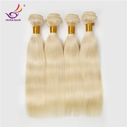 Wholesale 32inch Virgin Peruvian Hair - Grade 7A unprocessed 613 Platinum blonde silky straight brazilian virgin hair 4pcs lot bundles 10-32inch Fast delivery by DHL