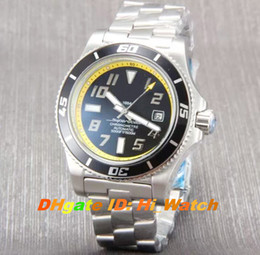 Wholesale Super Speed Stainless - Super Clone 6 Colors Diver Super Ocean 42 A1736402 Speed Black Bezel Yellow Black Dial A2813 Automatic Mens Watch SS Watches BRE-A73