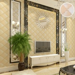 Wholesale Wall Paper Leather - Wholesale- Luxury Photo 3D Stereoscopic Wallpaper For Wall Vintage Faux Leather Wall Paper Roll Bedroom Live room Sofa Backdrop Wall Cover