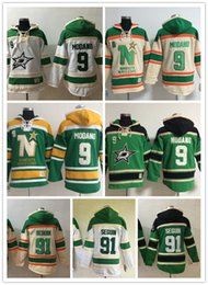 Wholesale Star Q - Men's Ice hockey jerseys Fleece Hoodie Dallas Stars #9 Modano #91 Seguin The Hi-Q traditional embroidery