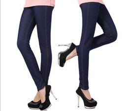 Wholesale Women Winter Down Pants - Autumn And Winter Will Code Down Thickening Imitate Cowboy Underpant Woman Keep Warm Bound Feet Pants Manufactor Goods in stock Formal