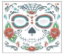 Wholesale Adhesive Temporary Tattoo - Hot selling Face Eye Terror Temporary Tattoo Sticker Waterproof Self Adhesive Paste face stickers factory price wholesale