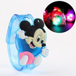 Wholesale Kids Girls Bracelet Watches - NEW 2016 Cheap Fashion Kids LED Watch Bracelet Toy Boys Girls Colorful Flash Watches Childred Cartoon Watch Toy Party Decorations