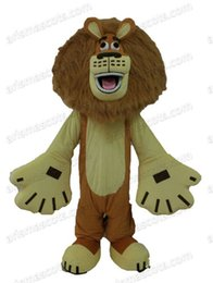 Wholesale Alex Lion Costume - AM0572 Madagascar Lion Alex Mascot costume Cartoon mascot party costumes EVA foam mascot fur mascot advertising