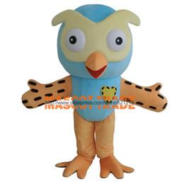 Wholesale New Style Professional Dresses - Wholesale-2016 Hot Sale Professional New Style Big Blue Owl Mascot Costume Fancy Dress Adult Size