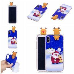 Wholesale Iphone Santa Case 3d - Fashion Phone 3D Santa Claus PaPa solf TPU Christmas Papa Phone Case For iphone X 8 7 6 6S Plus 5S Samsung S8 PLUS NOTE8