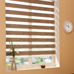 Wholesale Wide Window Shades - Z5 Classic Blackout Zebra Roller Blinds (custom made sizes in 6 colors)Free Shipping