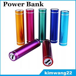 Wholesale Mobile Power Retail Packaging - Power Bank 2600mAh portable external battery pack charger Universal power bank for Mobile Phone With Micro USB Cable With Retail Package