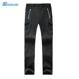Wholesale hunting pants for men - Wholesale- Dropshipping Outdoor hiking camping hunting pants waterproof windproof warm soft shell mountaineering Pants for mens