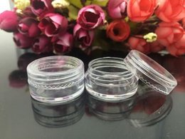 Wholesale Plastic Empty Clear Jar - 5g Cream Bottle ,Factory Price New Empty Clear Travelling Plastic Cosmetic Containers Bottle Make Up Cream Sample Pot Jar