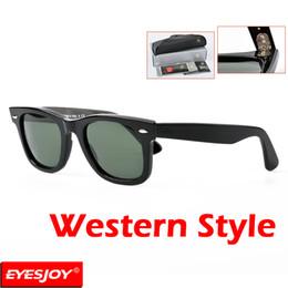 Wholesale G15 Lens - G15 Glass Lens Sunglasses Top quality Plank Frames 50g UV 400 50-22mm Brand Designer Mens women Fashion Luxury Sunglasses for men with Box