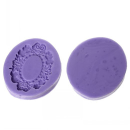 "Wholesale Chinese Clay Craft - Dorabeads Silicone Mould For Polymer Clay Craft Oval Flower Mould Pattern 5.2cm x 4.6cm(2"" x1 6 8""),1 Pc"