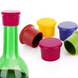 Nueva Llegada Tapón de la Botella de Vino Herramientas de la Barra de Silicona Preservación Tapones de Vino Cocina Vino Champán Tapón de Bebidas Cierres desde fabricantes