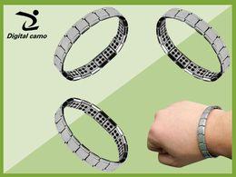 Wholesale Mens Titanium Chain Link Bracelets - Free shipping 80pcs Nano bracelet Energy Bracelet Balance Mens Titanium Power Nano Energy 80 Germanium Stones