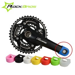 Wholesale Bike Crank Cover - Wholesale-ROCKBROS Crankset Crank Protective Sleeve Protector Mountain Bike Road Bike Fixed Gear Bicycle Crank Protective Cover 8 Colors