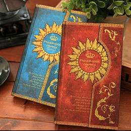 Wholesale Vintage Office Supplies - Vintage The Mysterious Magic World series Magnetic buckle Kraft paper notebook Christmas gift office school supplies Wholesale