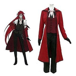 Wholesale Black Butler Grell Sutcliff Cosplay - Anime Black Butler Grell Sutcliff Jazz Cloth Cosplay Costume
