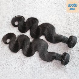 Wholesale Single Human Hair Extensions - 9A 100% Mongolian Hair Single Bundle Unprocessed Human Body Wave Hair Weave Natural Color Hair Extensions 2pc