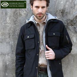 Wholesale Army Bdu - Wholesale-Seibertron Men's M-65 Hooded Field Coat Tactical M65 BDU Jacket