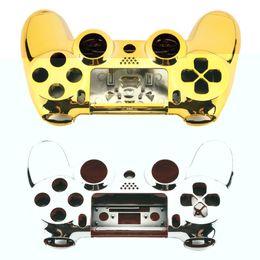 Полный корпус Shell Case обложка кожи кнопки набор с полными кнопками Mod Kit замена для Playstation 4 PS4 контроллер Золотой щепки от