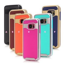 Wholesale Hybrid Iphone Waves - Deluxe Armor Hybrid Wave Hard PC+Soft TPU PC Case For Iphone 7 Plus SE 5 5S Galaxy S7 Edge J710 G550 ON5 For LG K7 K10 Layer Dual Cover Skin
