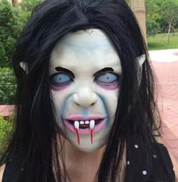 Wholesale Scary Skeleton Masks - Halloween Cosplay masquerade Costume Skull Skeleton Mask Party Scary Ghost Masks Full Face Horror bloodsucker Mask