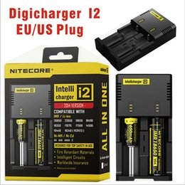 Wholesale I2 Charger - Hot! Nitecore I4 I2 Digicharger LED Display Battery Charger Universal Nitecore Charger & Charging Cable & Retail Package