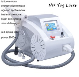 Wholesale Nd Yag Laser Equipment - Portable ND Yag Laser Q-switch Tattoo Removal Machine Remove Pigmentation Acne Scar Equipment 532nm 1320nm 1064nm