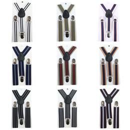 Wholesale Children Boy Clips Suspender - Wholesale-Stripes Baby Boys Children Clip-on Suspender Y-Back Child Elastic Suspenders 2-8 Y