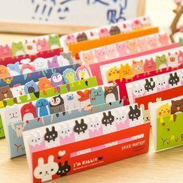 Wholesale Memo Flags - 10 sets lot Kawaii Cute Post-It Bookmark Marker Memo pad Flags Index Tab Sticky Notes Label Paper Stickers Notepad Papelaria