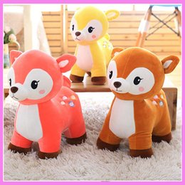 Wholesale Cute Deer Stuffed Animals - New Cute Deer Plush Doll Toys Birthday Gift Preschool Children's Favorite Home Furnishing Decoration Baby Stuffed Animal Doll