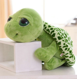 Wholesale Tortoise Stuffed Animal - 20 50cm 2015 new style big eyes green tortoise high quality stuffed plush animals baby toys doll pillow gift for children