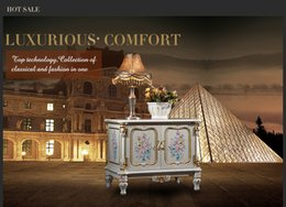 Wholesale Living Room Furniture Tv Cabinet - French Royalty classic furniture - baroque handcraft cracking paint floor cabinet French rococo TV cabinet