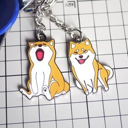 Wholesale Club Animals - Shiba Inu Doge Logo keychain Keyring Metal 3D Pendant Gift Collectibles Shiba Inus Fan Club High Quality